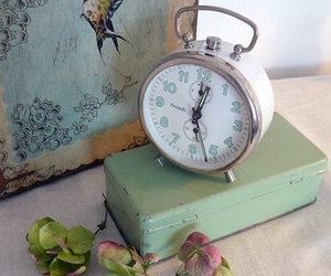pastel, vintage, and clock image