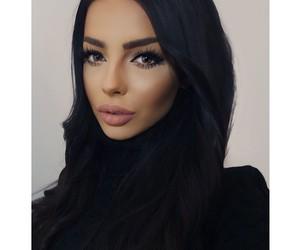 brunette, make up, and makeup image