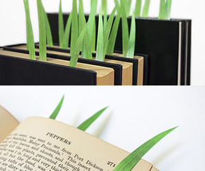 book, grass, and cute image
