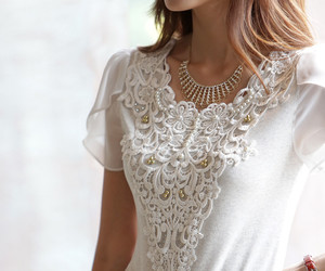 beautiful, lace, and white image