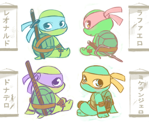 cute, chibi, and tmnt image