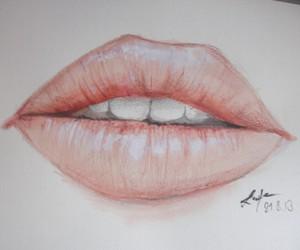 drawing, drawings, and lips image