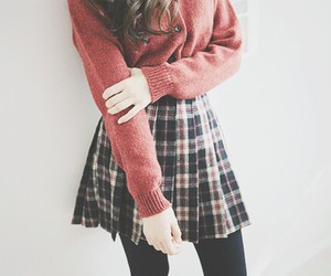 cardigan, girly, and kfashion image