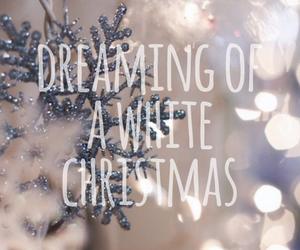 christmas, snow, and gift image