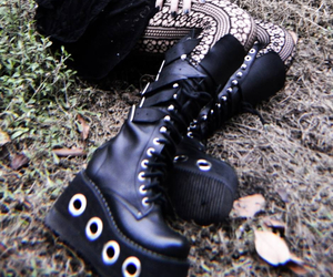 boots, goth, and gothic image