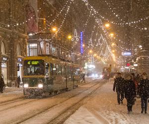 snow, christmas, and lights image
