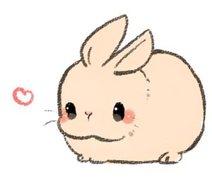 kawaii, bunny, and rabbit image