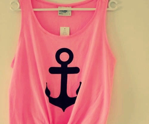 pink, anchor, and shirt image