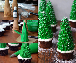 christmas, food, and cupcake image