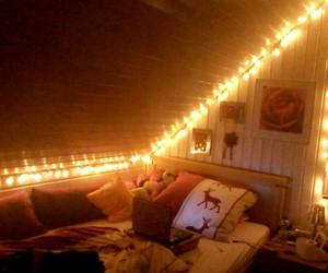 bedroom, christmas, and lights image