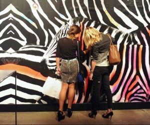 art, girls, and party image