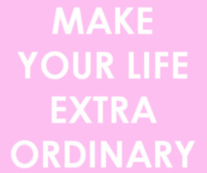 life, pink, and quote image