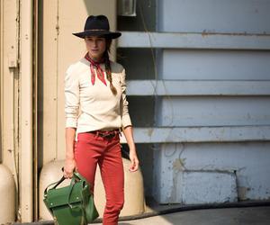 bag, braid, and hat image
