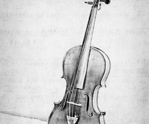 black and white, etsy, and instrument image