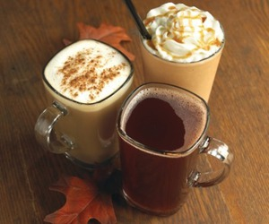 autumn, fall, and drink image
