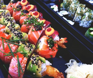 sushi, food, and good image