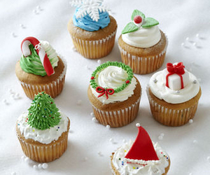 cakes, christmas, and cupcakes image