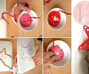 christmas, red star, and navidad diy image