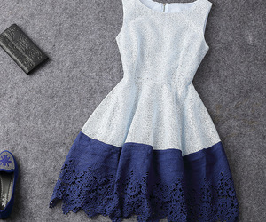dress, blue, and moda image