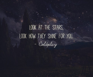 stars, coldplay, and quote image