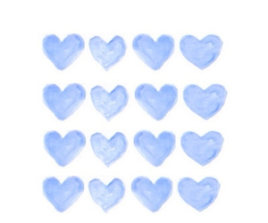 overlay, blue, and hearts image
