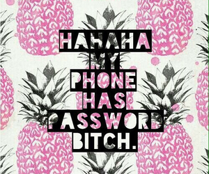 pineapple, wallpaper, and bitch image