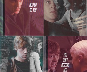 draco malfoy, dramione, and romione image