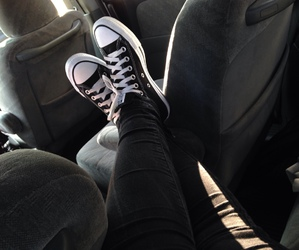 converse, girl, and grunge image