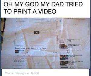 dad, facebook, and print image