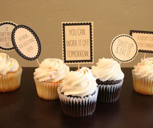 cupcakes, eating, and food image