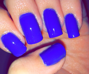 blue, blue nails, and girl image