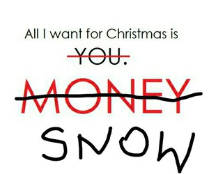 christmas, money, and snow image
