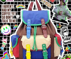90s, backpack, and colorful image