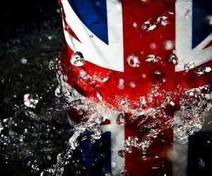 flag, london, and water image