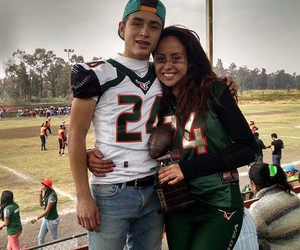 couple, crying, and football image
