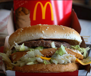 fitness, food, and McDonalds image