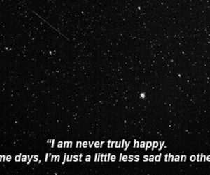 sad, stars, and depressed image