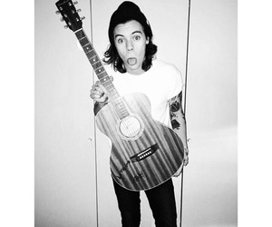 Harry Styles, one direction, and guitar image