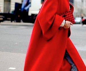 coat, red, and street image