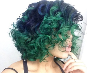 hair, green hair, and hairstyle image
