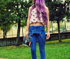 color, purple, and teenager image