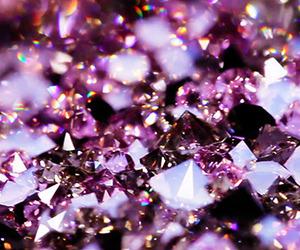 diamonds, girl, and pink image