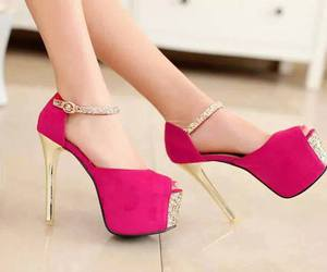high heels and pink image