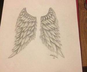 angel and drawing image