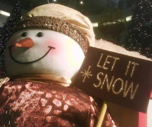 christmas, snowman, and golden words image