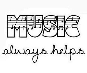 music, text, and spruch image