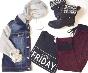 combat boots, fashion, and friday image