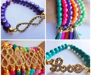 bracelets, infinite, and colours image