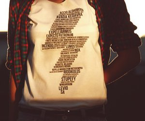 harry potter, spell, and shirt image