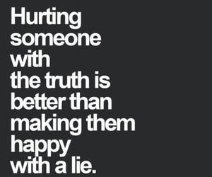 lies, truth, and happy image